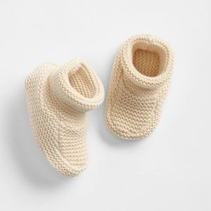 GAP Baby Brannan Knit Booties baby in cream white